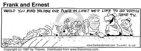 Comic Strip Bob Thaves Tom Thaves  Frank and Ernest 1987-08-20 orangutan