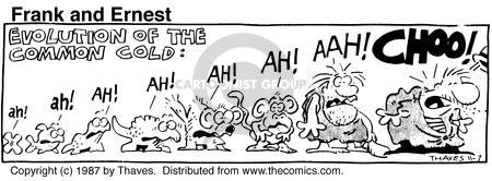 Comic Strip Bob Thaves Tom Thaves  Frank and Ernest 1987-11-07 frog