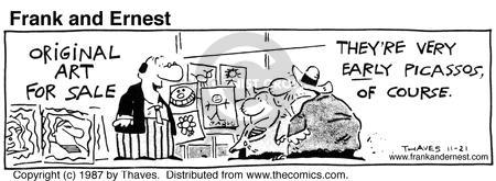 Comic Strip Bob Thaves Tom Thaves  Frank and Ernest 1987-11-21 sale