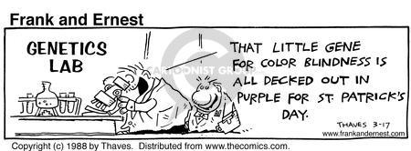 Comic Strip Bob Thaves Tom Thaves  Frank and Ernest 1988-03-17 clothes