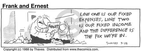 Comic Strip Bob Thaves Tom Thaves  Frank and Ernest 1988-03-28 finance