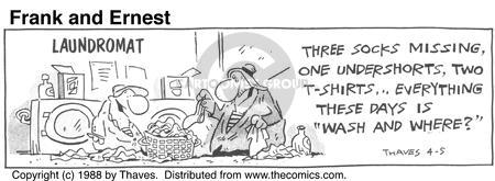 Comic Strip Bob Thaves Tom Thaves  Frank and Ernest 1988-04-05 laundry