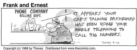 Comic Strip Bob Thaves Tom Thaves  Frank and Ernest 1988-04-22 car phone