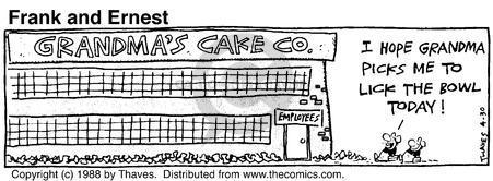 Comic Strip Bob Thaves Tom Thaves  Frank and Ernest 1988-04-30 grandma