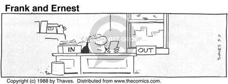 Comic Strip Bob Thaves Tom Thaves  Frank and Ernest 1988-05-05 manager