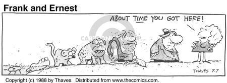 Comic Strip Bob Thaves Tom Thaves  Frank and Ernest 1988-07-07 delay