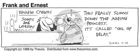 Comic Strip Bob Thaves Tom Thaves  Frank and Ernest 1988-07-28 wrinkle