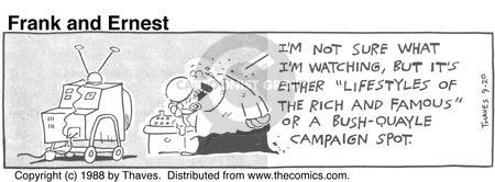 Comic Strip Bob Thaves Tom Thaves  Frank and Ernest 1988-09-20 lifestyle