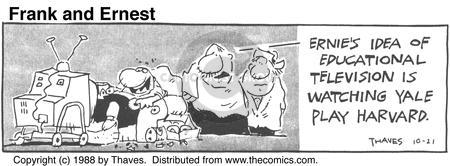 Cartoonist Bob Thaves Tom Thaves  Frank and Ernest 1988-10-21 college sports