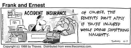 Comic Strip Bob Thaves Tom Thaves  Frank and Ernest 1988-12-07 benefit