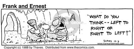 Comic Strip Bob Thaves Tom Thaves  Frank and Ernest 1988-12-09 right direction
