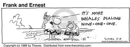 Comic Strip Bob Thaves Tom Thaves  Frank and Ernest 1989-02-15 telecommunication