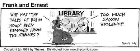 Cartoonist Bob Thaves Tom Thaves  Frank and Ernest 1989-02-25 library