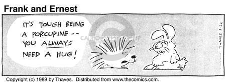 Cartoonist Bob Thaves Tom Thaves  Frank and Ernest 1989-03-22 sharp