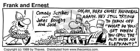Comic Strip Bob Thaves Tom Thaves  Frank and Ernest 1989-05-12 trunk
