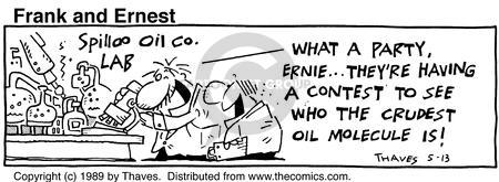 Comic Strip Bob Thaves Tom Thaves  Frank and Ernest 1989-05-13 festive