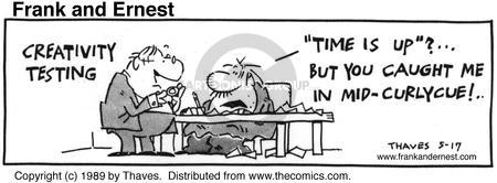 Comic Strip Bob Thaves Tom Thaves  Frank and Ernest 1989-05-17 shape