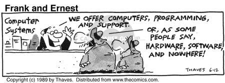 Cartoonist Bob Thaves Tom Thaves  Frank and Ernest 1989-06-12 tech