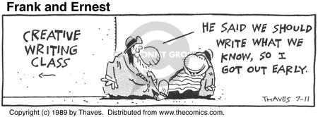 Comic Strip Bob Thaves Tom Thaves  Frank and Ernest 1989-07-11 high school student