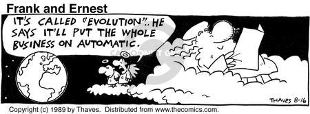 Comic Strip Bob Thaves Tom Thaves  Frank and Ernest 1989-08-16 change management