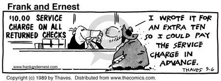 Comic Strip Bob Thaves Tom Thaves  Frank and Ernest 1989-09-06 prepare
