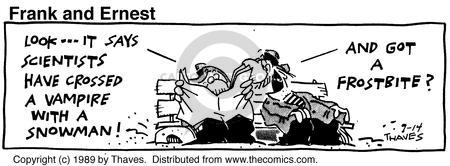 Comic Strip Bob Thaves Tom Thaves  Frank and Ernest 1989-09-14 vampire