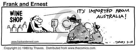 Comic Strip Bob Thaves Tom Thaves  Frank and Ernest 1989-09-18 hemisphere