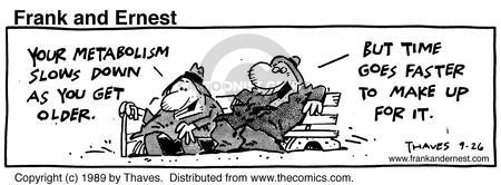 Comic Strip Bob Thaves Tom Thaves  Frank and Ernest 1989-09-26 metabolism