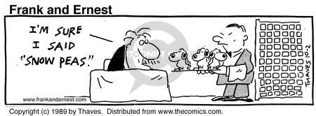 Cartoonist Bob Thaves Tom Thaves  Frank and Ernest 1989-10-02 peanut