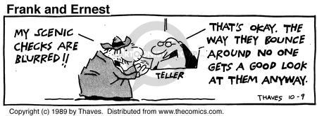 Comic Strip Bob Thaves Tom Thaves  Frank and Ernest 1989-10-09 union