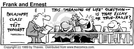 Cartoonist Bob Thaves Tom Thaves  Frank and Ernest 1989-10-10 wrong
