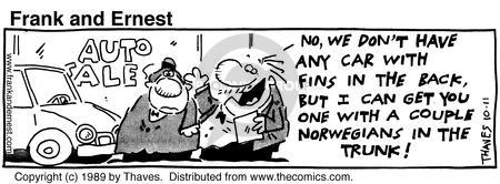 Comic Strip Bob Thaves Tom Thaves  Frank and Ernest 1989-10-11 amenity