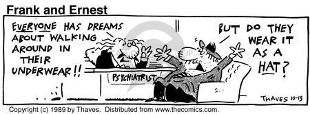 Comic Strip Bob Thaves Tom Thaves  Frank and Ernest 1989-10-13 clothes
