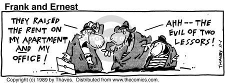 Comic Strip Bob Thaves Tom Thaves  Frank and Ernest 1989-11-01 payment