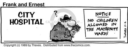 Comic Strip Bob Thaves Tom Thaves  Frank and Ernest 1989-11-02 sign