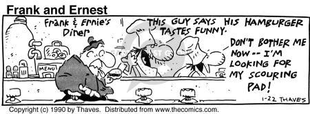 Comic Strip Bob Thaves Tom Thaves  Frank and Ernest 1990-01-22 consumption