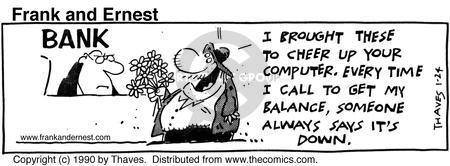 Comic Strip Bob Thaves Tom Thaves  Frank and Ernest 1990-01-24 computer