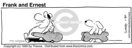 Comic Strip Bob Thaves Tom Thaves  Frank and Ernest 1990-01-30 bass