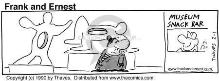 Cartoonist Bob Thaves Tom Thaves  Frank and Ernest 1990-02-01 appetite