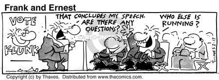 Comic Strip Bob Thaves Tom Thaves  Frank and Ernest 1990-02-17 alternate