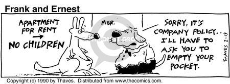 Comic Strip Bob Thaves Tom Thaves  Frank and Ernest 1990-02-19 manager