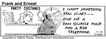 Comic Strip Bob Thaves Tom Thaves  Frank and Ernest 1990-03-14 disguise