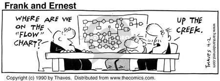 Comic Strip Bob Thaves Tom Thaves  Frank and Ernest 1990-04-02 employ