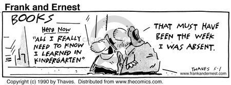 Comic Strip Bob Thaves Tom Thaves  Frank and Ernest 1990-05-01 week