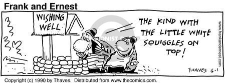 Comic Strip Bob Thaves Tom Thaves  Frank and Ernest 1990-06-01 desire