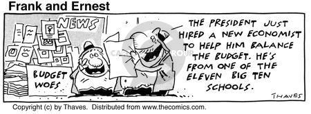 Cartoonist Bob Thaves Tom Thaves  Frank and Ernest 1990-07-30 George Bush