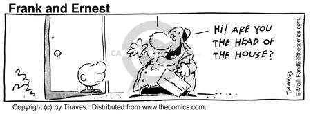 Comic Strip Bob Thaves Tom Thaves  Frank and Ernest 1990-08-02 door-to-door