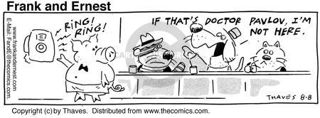 Comic Strip Bob Thaves Tom Thaves  Frank and Ernest 1990-08-08 behavior research