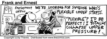 Comic Strip Bob Thaves Tom Thaves  Frank and Ernest 1990-09-18 applicant