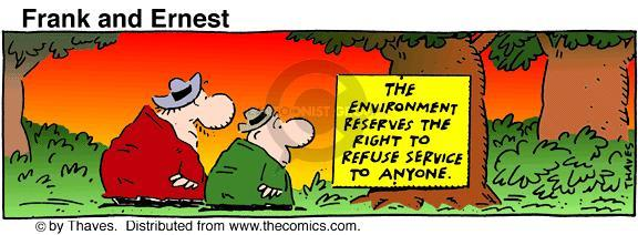 Comic Strip Bob Thaves Tom Thaves  Frank and Ernest 1990-09-24 ecology